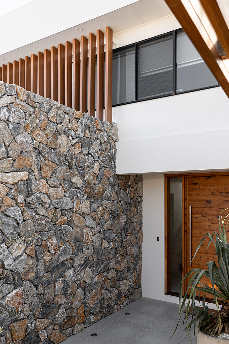 • New entry area with stone feature