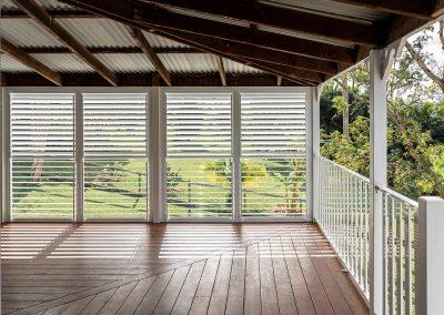 New deck on first floor verandah of renovated Queenslander